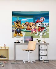 Wall mural wallpaper Paw Patrol 160x110cm nursery bedroom photo-mural pink