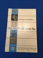 1960 Ford Falcon Service Tips.....from your Ford Dealer. FoMoCo