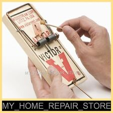 """2 FOR $15 —FREE S&H— 2 LARGE 3-1/4 X 7"""" VICTOR M201 SNAP SPRING WOODEN RAT TRAPS"""