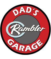Dad's Garage Rambler Metal Sign