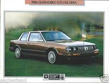 Auto Brochure - Oldsmobile - Cutlass Ciera - 1986   (AB825)
