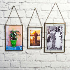 4Pack Double Sided Hanging Glass Display Frame for Photo Picture Plant Specimen