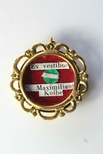 Antique S. Maximiliani Kolbe First Class Relic Reliquary Wax Seal Pendant