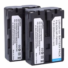 2x NP-FM500H NP FM500H Camera Batteries For Sony A57 A65 A77 A99 A350 A550 A700