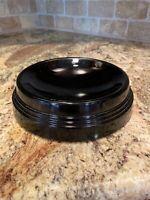 Vintage - Black Glass -  Art Deco - Bowl