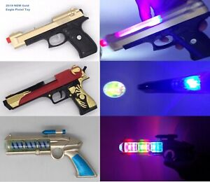 Gold-Eagle Pistol Toy Gun with Light ,Sound & Vibration Effects For Kids NEW_UK