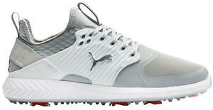 Puma Ignite Pwradapt Caged Golf Shoes 192223-01 Gray/Silver/White Men's New