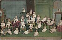 c1906 Multi Babies Antique Postcard Serie 319 Fantasy Multiple - Unposted
