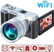 Vlogging Camera Digital Cameras, VideoSky FHD 1080P 24MP 16X Digital Zoom Video