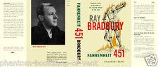 Bradbury-Fahrenheit 451 facsimile dust jacket for the 1953 1st book ed.