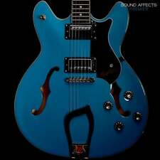 Hagstrom Viking Semi-Hollow Electric Guitar inc. Hagstrom Hard Case, Miami Blue