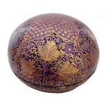 Purple Domed Papier Mache Box - Handmade in India - Fair Trade