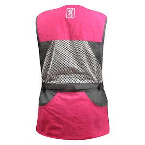 Browning WMNS Summit Shooting Vest (L)- Smoke/Fuchsia
