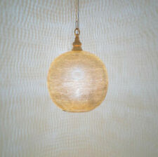 Zenza Moroccan-style pendent lampshade, gold finish on brass; handmade in Egypt.