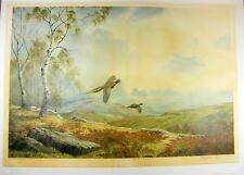 Vintage Rising Pheasants Signed Ltd Edition Print By Elizabeth Gray Unframed