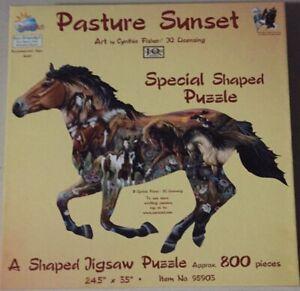 SunsOut 800 pc puzzle - Pasture Sunset - Complete