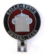 Vintage Rolls-Royce Owners Club Emblem License Plate Topper Badge