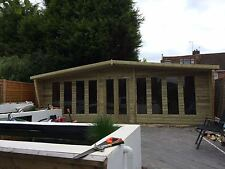 20 X 10 Finished 19mm T And G With 2ft Canopy Deluxe Summerhouse