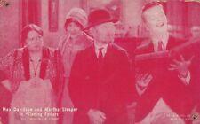 "MARTHA SLEEPER & MAX DAVIDSON ""flaming fathers""-silent 1920s arcade/exhibit card"