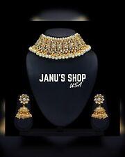 USA!! Ethnic Indian Bollywood  Bridal Choker Necklace Earring Wedding Jewelry