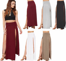 Machine Washable Solid Regular Size Maxi Skirts for Women
