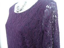 NEW with TAG  M&S Collection  Stunning Purple Lace Lined Dress 18
