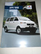Suzuki APV Van brochure May 2008 New Zealand market