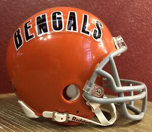 Rare NFL Throwback Cincinnati Bengals Riddell Mini Football Helmet & Facemask