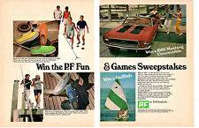 1968 FORD MUSTANG CONVERTIBLE / P.F. SHOES ~ ORIGINAL 2-PAGE BF GOODRICH AD