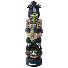 """Seattle Seahawks NFL Team Tiki Totem Figurine 16"""" Tall"""