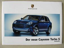 Prospekt Porsche Cayenne Turbo S 4,5 521 PS 9PA Modell 2006 deutsch