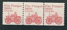 Scott #1908....20 Cent...Fire Pumper...Plate# Strip of 3...#6