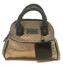 Steve Madden Mini Crossbody Metallic Rose Gold Black Faux Leather Bag Purse NWOT