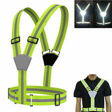 Adjustable High Visibility Reflective Safety Vest Harness Belt Waistcoat Cycling