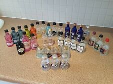 36 Minature Empty Gin Bottles