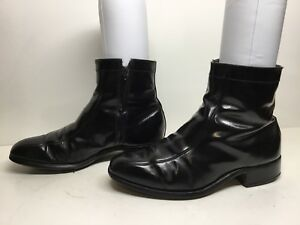 VTG MENS UNBRANDED CASUAL BLACK BOOTS SIZE 9 EEE/E