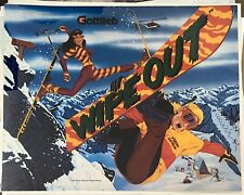 Wipe out Pinball Game Rug Mat Floor Door Home House Cotton Collectible Gottlieb