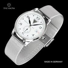Junkers 39mm Dessau 1926 Flatline German Made Ultra-thin Stainless Mesh Watch
