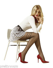 Women's Luxury, High Quality Heart Patterned Sheer Fashion Tights, 20 Denier