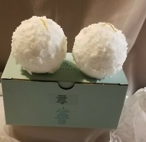 """Partylite 3"""" Ball Candle Q53124 Snowberries Scent Box of 2 Snowball NIB"""