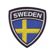 SWEDEN CREST FLAG EMBROIDERED SEW ON PATCH