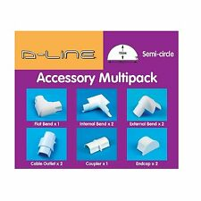 D-Line CABLE MANAGEMENT ACCESSORY KIT 10Pcs Bend,Tee,Connector,End Cap *UK Brand