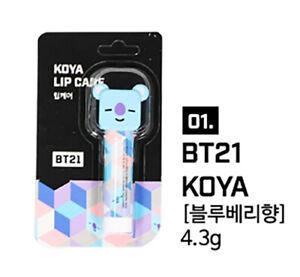 Official BT21 Figure Lip Balm Lip Care Stick Authentic Goods Korean Cosmetics
