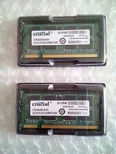 Crucial 4GB 2x2GB PC2-6400 PC6400 DDR2 800 MHZ laptop memory SO-DIMM 200pin ram