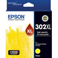 GENUINE Original Epson 302XL Yellow Ink Cartridge Toner Claria Premium T01Y492