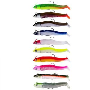 Silicone Fishing Lure Lead Jig Artificial Soft Bait Worm Bass Pike Crank Bait