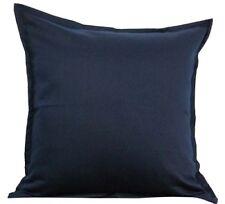 """Solid Blue Cotton Cushion Cover Home Decor Sofa Throw Pillow Case 18""""X18"""" Chair"""