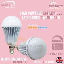 E14 B22 E27 DIMMABLE Bridgelux LED 7W 10W 14W Edison WARM/COOL WHITE Bulb Globe