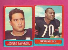 1963 TOPPS CHICAGO BEARS  NRMT-MT CARD LOT  (INV# C6221)