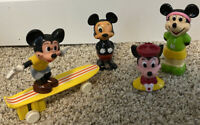 Vintage 70s 1978 Wald Disney Mickey Mouse Toys Lot Of 4